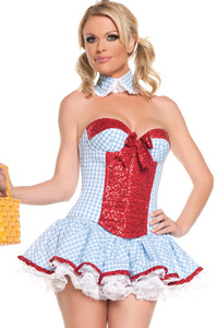Dorothy Sequin Corset Costume- Size Medium