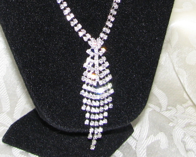 Gorgeous Rhinestone necklace   earrings bride prom bridemaid