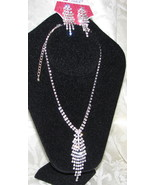 Gorgeous Rhinestone necklace & earrings bride prom bridemaid