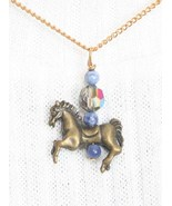 Judy Strobel Pewter Horse AB Cut Glass Sodalite... - $19.95