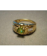 14k Gold Rare Titanite Sphene Ring with Sapphir... - $499.00