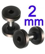 12g~2mm Screw Flesh Tunnel Ear Plug 12 Gauge Lo... - $7.93