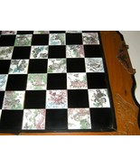 Vintage Wood Folding Chess Set Board Asian Orie... - $225.00