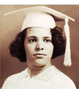 Old Photograph GIRL Graduate WHITE Cap & Go... - $6.00