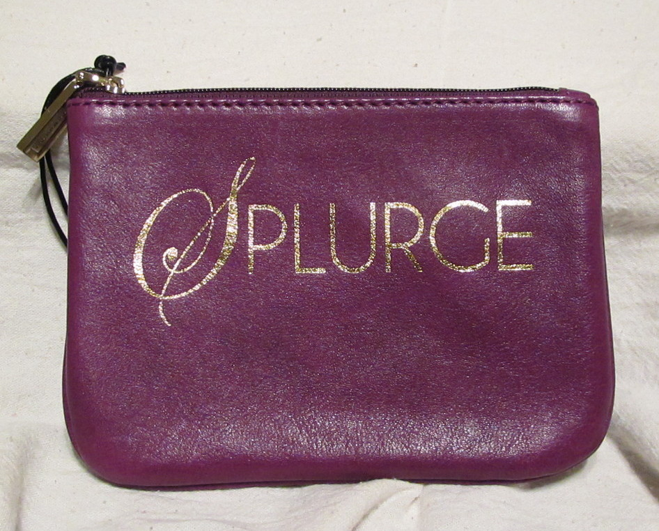 Rebecca Minkoff Cory Splurge Grape Purple Leather Gold NWT Cheeky Coin Purse RM