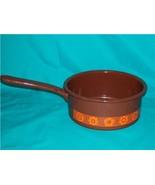BROWN AND ORANGE ENAMEL SAUCE PAN MANUFACTURED ... - $25.00