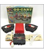1950's 60's Vintage Eldon Go-Cart Raceway Slot Car Set - $55.00
