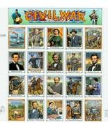 MINT Sheet  1995 Civil War Stamps  - $18.00