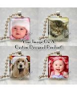 CUSTOM SCRABBLE TILE PHOTO CHARM PENDANT Use Your Image