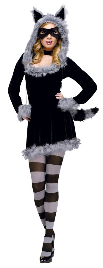 Racy Raccoon Women's Halloween Costume SM/MD  2-8