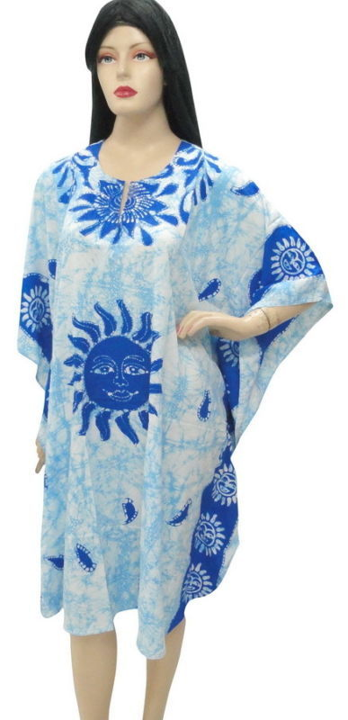 SUN Printed Plus Size Beach Cover Up Kaftan Caftan