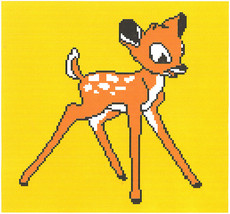 Bambi Color Graph Afghan Pattern - $4.00
