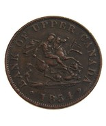 ANTIQUE Over 150 Years Old 1854 Upper CANADA On... - $19.99