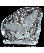Heavy Carved Clear Glass Eagle Flying Ice Sculp... - $5.00