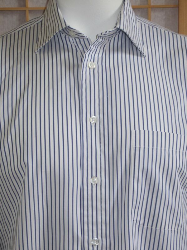 Mens BURBERRY London Blue Long Sleeve  Dress Shirt Shirts Sz. by Measurements