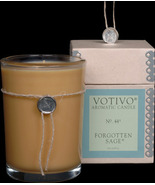 Vovivo Aromatic Glass Candle - Forgotten Sage, No. 44