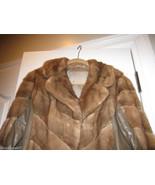 Mink & Leather Jacket Coat Brown Honey $1500 - $874.00