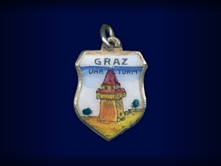 Vintage travel shield charm, Graz, Steiermark, Austria