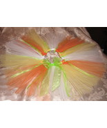 size 4 halloween tutu &amp; headband w flower