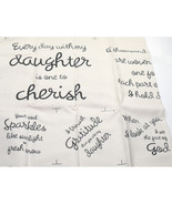 Forever My Daughter Quilt Fabric Cotton Panel New - $14.99