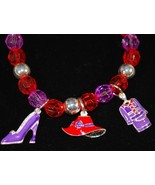 Red Hat Stretch Bracelet with Shoe, Hat & Suit ... - $1.95