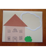 House Warming Card Handcrafted scrap happy card - $3.95