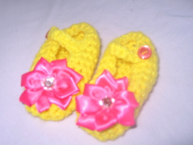 Infant Girl Crib Shoes Ballet Slipper Mary Jane Sz 3