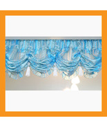 blue stripe balloon shades valances curtains la... - $26.00