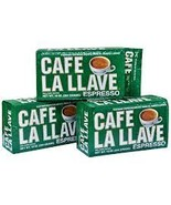 Lot of 3 Cafe La Llave Cuban Espresso 100% Pure... - $19.99