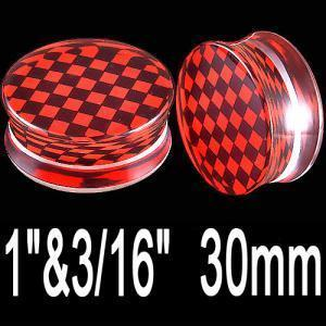 30mm Red Ears Plugs gauge earrings stretching kit BHMO