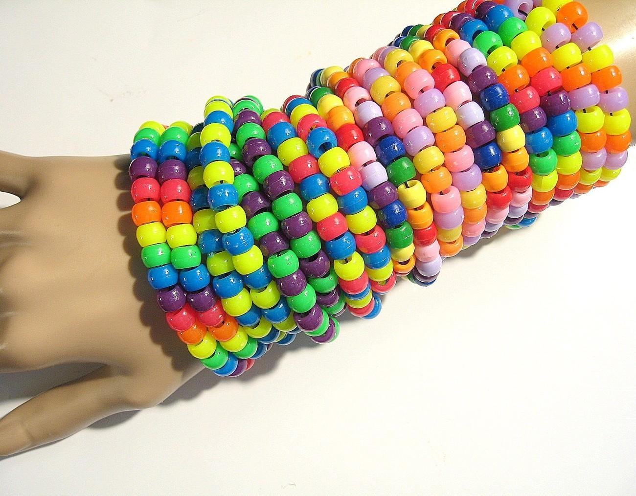 10 kandi bracelets mixed materials