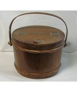 Vintage Wood Sewing Bucket By Enesco - $35.00