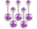 Buy Body Jewelry - Lot 14g Belly Button Navel Rings Bars Body Jewelry BMNV