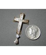 14k Victoria Weick Cubic Zirconia Cross 3 carat... - $124.99