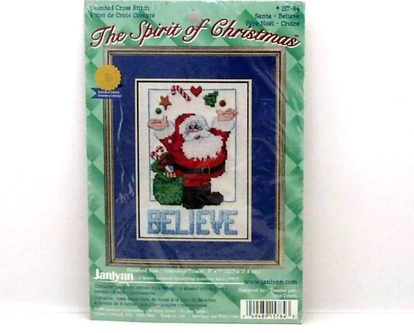 Spirit of Christmas Believe Janlynn 1999 Cross Stitch Kit