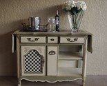 Buy Buffets & Sideboards - Vintage buffet server- handpainted with drop down leafs