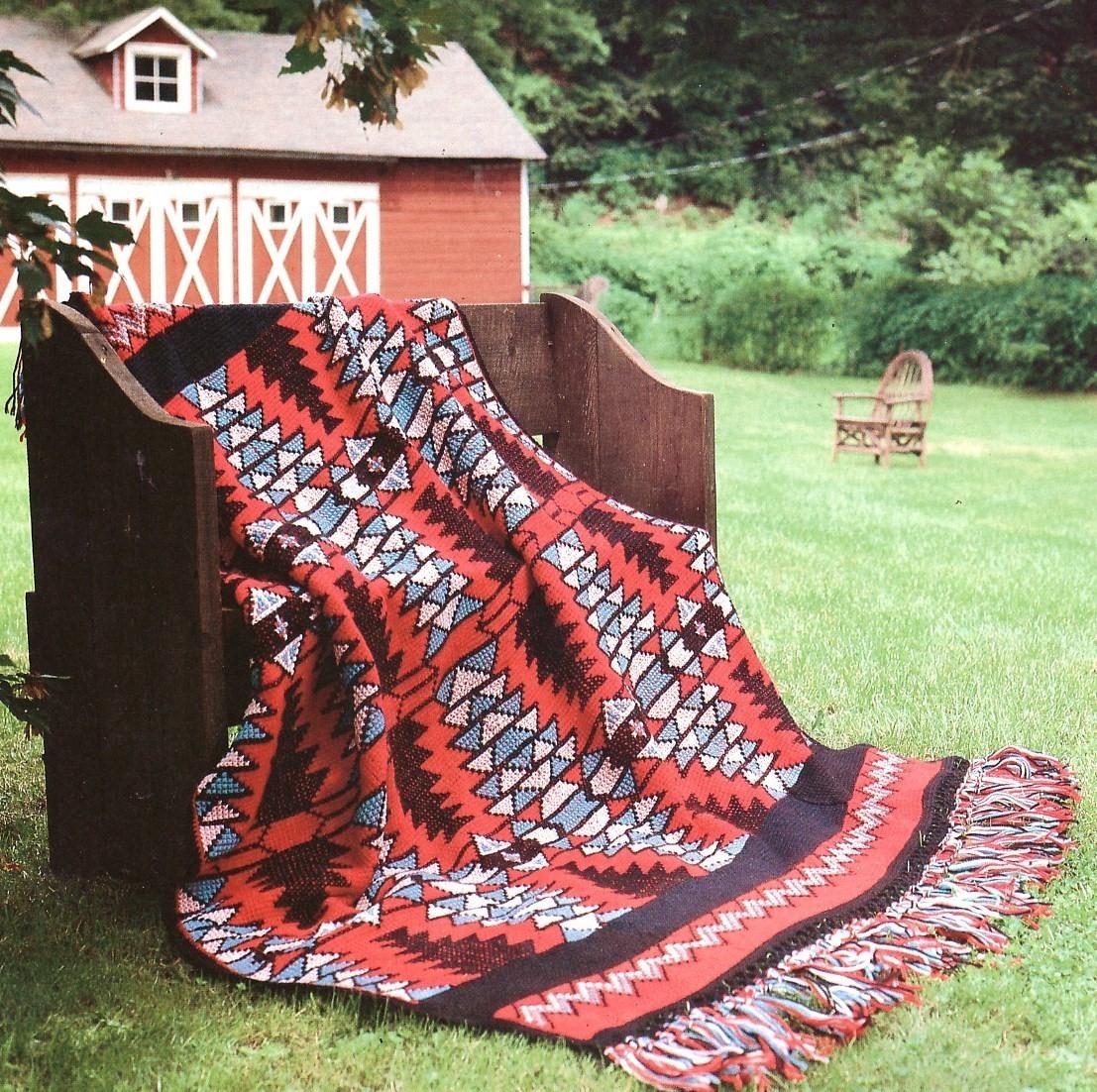 Native American Vibrations Afghan Crochet Pattern Indian ...