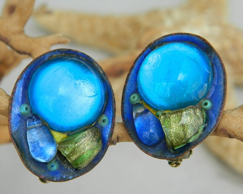 Andree_bazot_vintage_earrings_enamel