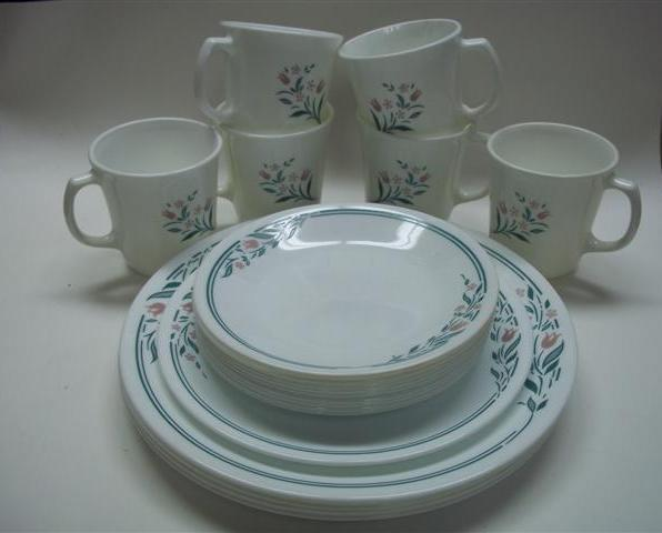 Corelle Rosemarie Replacement Pieces Plates Mugs