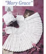 Lacy Mary Grace Baby Dress & Bonnet Crochet Pat... - £13.08 GBP