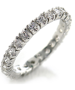 Premium Russian CZ ICE Rhodium plated Stackable... - $18.00