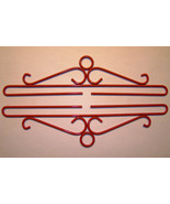 Red Wrought Iron Bellpull pair 10cm (4