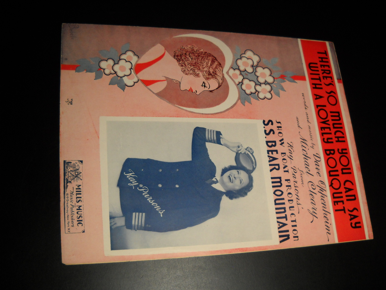 Sheet Music There's So Much You Can Say With A Lovely Bouquet 1936 Kay Parson
