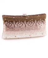 HB0504-BRW Brown Rhinestone Evening Bag   - $316.00