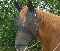 Image 0 of Fly Mask Cashel Quiet Ride Long nose with Horse Length Ears