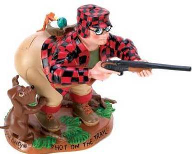 Bootys Hot On The Trail Hunter Figurine