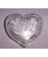 Walt Disney World Etched Glass Trinket Box Mick... - $20.00