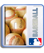 NEW BASEBALL BALLS MLB SINGLE LIGHT SWITCH COVER PLATE