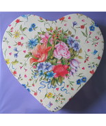 Victorian Style Floral Heart Storage Tin Lace M... - $2.50