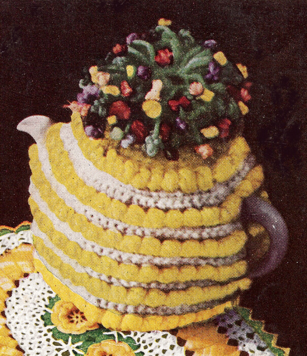Lily: Download Free Pattern Details - Sugar'n Cream - Tea Cosy (knit)